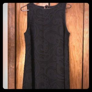 Black cocktail dress with lace overlay- size 12